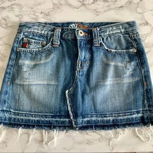 Miss me Jean distressed skirt festival spring SM